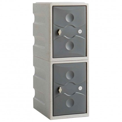 Probe UltraBox PLUS Low 2 Door Waterproof Plastic Locker - grey