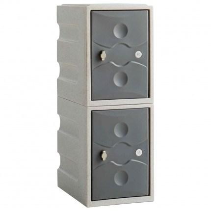 Probe UltraBox Low 2 Door Water Resistant Plastic Locker - grey