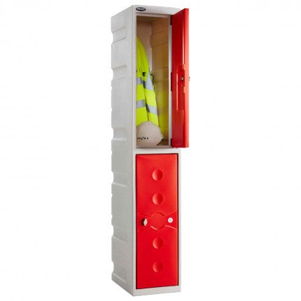 Probe UltraBox 2 Door Plastic Locker - Red