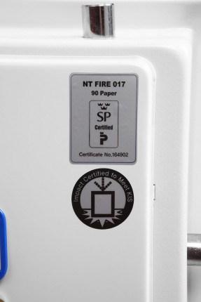 Phoenix Fire Fighter FS0441K 90 minutes Fireproof Safe - test certificate