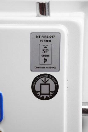 Phoenix Fire Fighter FS0443K 120 minutes Fireproof Safe - fire test certificate