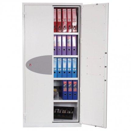 Phoenix FS1513K Fire Ranger Fire Security Paper Storage Cabinet one door open