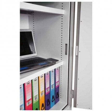 Interior showing shelf adjustment points on Phoenix Firechief FS1651K