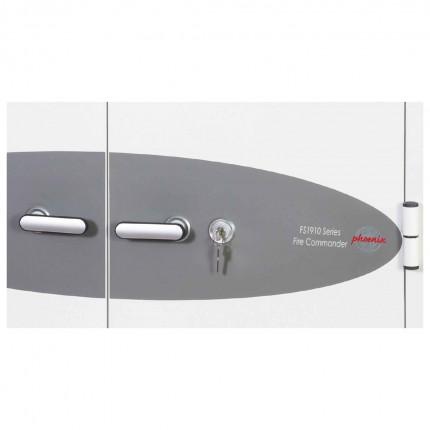 Phoenix Fire Commander FS1913K Key Locking 2 Hour Fire Cabinet  key lock detail