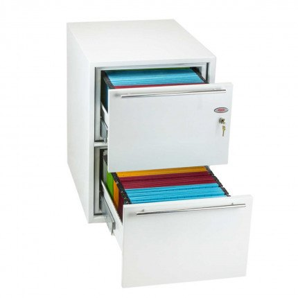 Phoenix Archivo Fire File FS2232K 2-Dr Key Lock Filing Cabinet drawers open
