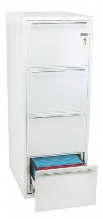Phoenix Archivo Fire File FS2234K 4-Dr Key Lock Filing Cabinet drawer open