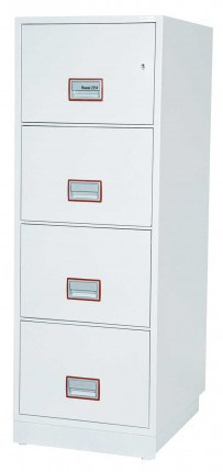 Phoenix Vertical Firefile FS2264K 4-Dr Key Lock Filing Cabinet extra deep drawers