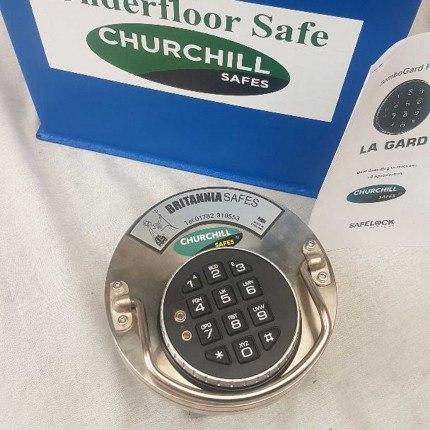 Churchill CS008 G1 £10,000 Floor Security Deposit Safe - electronic lock