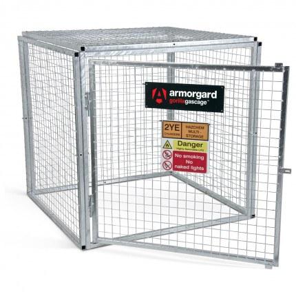 Armorgard GGC4 Gorilla Modular Gas Bottle Cage - Open