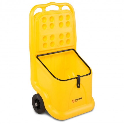Armorgard GritKart Mobile Storage for Grit and Salt - Open