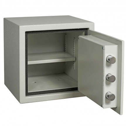 Dudley Europa Grade 1 MK3 Key Lock Fire Security Safe - £10,000 Insurance Rated - door open