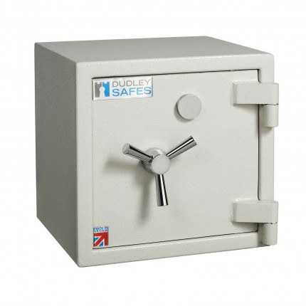 Dudley Europa EuroGrade 0 MK3 Size 0 £10,000 Insurance Rated Key Lock Fire Security Safe - door closed