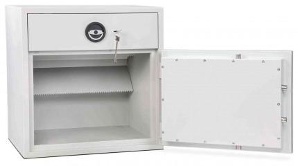 Burton Aver Eurograde 1 Key Locking Cash Deposit Safe Size 1KK  - Door open