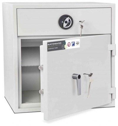 Burton Aver Eurograde 1 Key Locking Cash Deposit Safe Size 1KK  - Door ajar