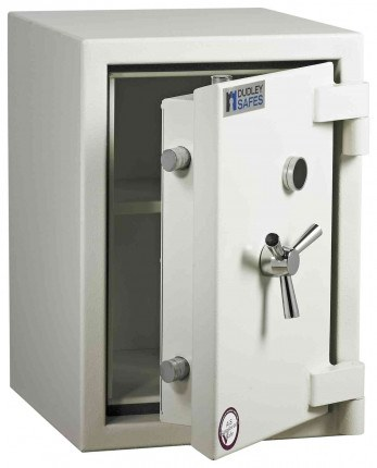 Dudley Europa £6,000 Drawer Drop Security Safe Size 2 - door ajar shown without drawer