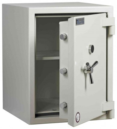 Dudley Europa £10,000 Drawer Drop Security Safe Size 2 - door ajar shown without drawer