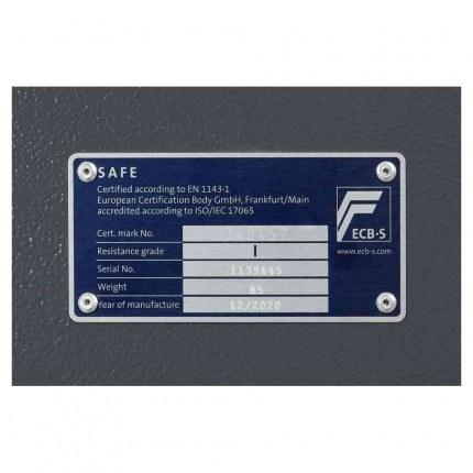 Keysecure Victor Eurograde 1 Key Lock Security Safe Size 3 - EN1143-12 certificate
