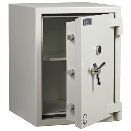 Dudley Europa Eurograde 3 Size 2 Key Lock High Security Safe - ajar
