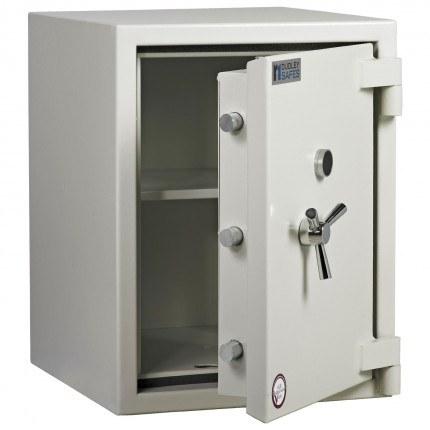 Dudley Europa Eurograde 3 Size 2 Key Lock High Security Safe - ajar