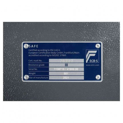 Keysecure Victor Eurograde 3 Key Locking Security Safe Size 2 - EN1143-1 Certificate