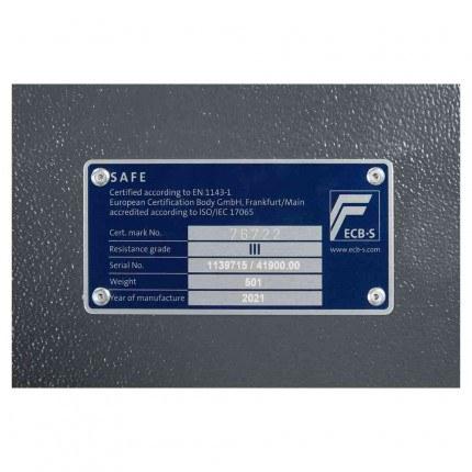 Keysecure Victor Eurograde 3 Electronic Security Safe Size 2 - EN1143-1 Certificate