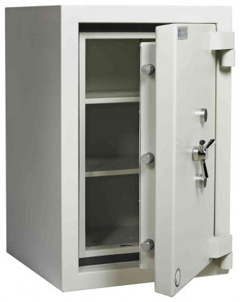 Dudley Europa £60,000 Drawer Drop Security Safe Size 3 - door ajar shown without drawer