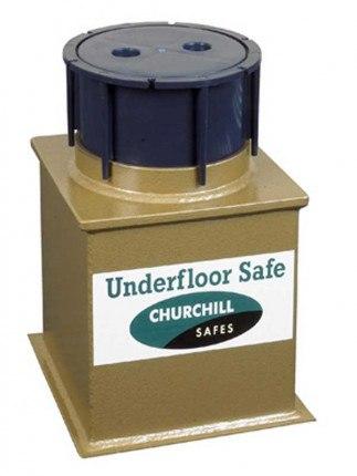 Churchill Domestic Underfloor D3L Key Lock Safe £4000 Closed