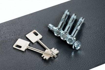 Chubbsafes Epsilon SZ4K keys and fixing bolts