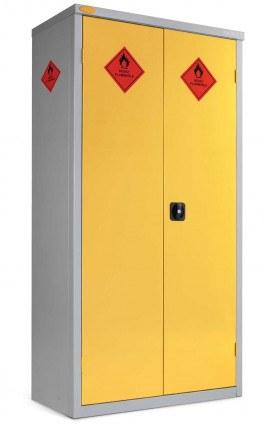 Probe HAZ-B 8 Compartment Flammable Hazardous Cabinet with doors locked