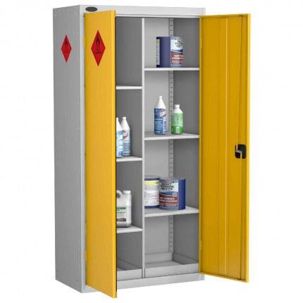 Probe HAZ-B Hazardous 8 Compartment Steel Cabinet - doors open