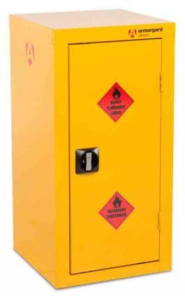 Armorgard Safestor HFC4 Flammable 1 Door 905mm Cupboard - door closed