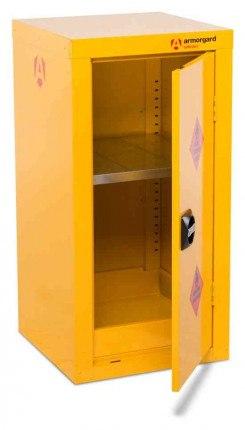 Armorgard Safestor HFC4 Flammable 1 Door 905mm Cupboard - door open