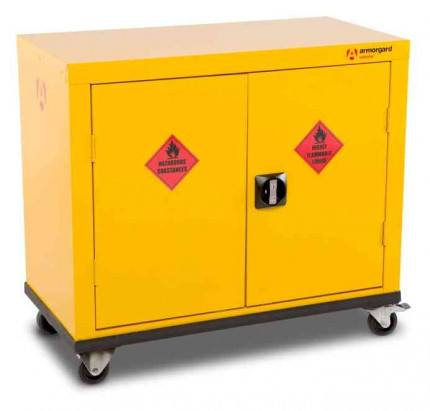 Armorgard Safestor HMC1 2 Door Mobile Flammable Cupboard - doors closed