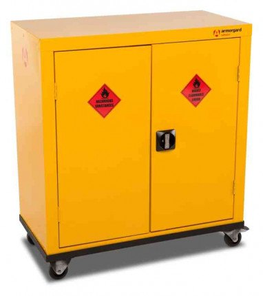 Armorgard Safestor HMC2 2 Door Mobile Flammable Cupboard - doors closed