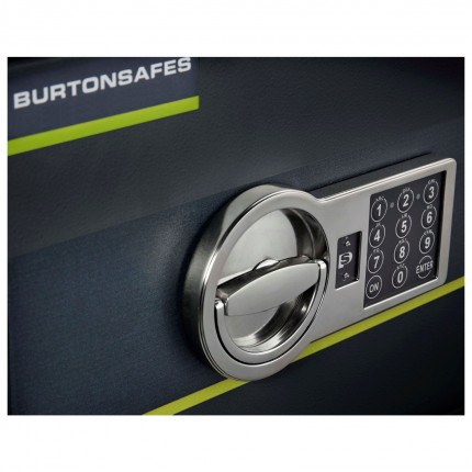 Close up of the Digital Electronic Lock on the Burton Home Safe 1E