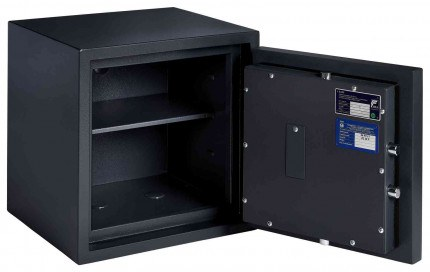 Burton Home Safe 3E Eurograde 0 £6,000 Rated Fire Security Safe - door open