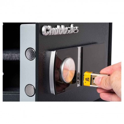 Chubbsafes HomeStar 17E showing emergency access using external battery