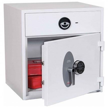 Police Approved £10,000 Cash Deposit Safe - Phoenix Diamond HS1191ED Electronic - Main door ajar