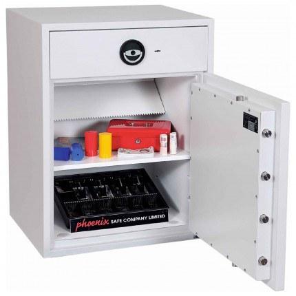 Police Approved £10,000 Cash Deposit Safe - Phoenix Diamond HS1192ED Electronic - Main door Open