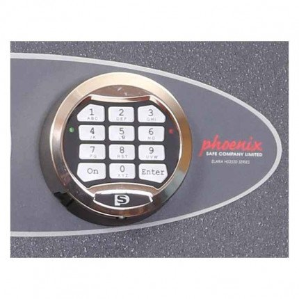 Phoenix Planet HS6073E Police Approved Dual Key & Electronic Eurograde 4 Fire Safe - Electronic Lock Detail