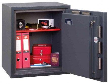 Phoenix Cosmos HS9072E Dual Key & Electronic Locking Eurograde 5 Safe - Wide Open Door