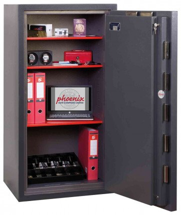 Phoenix Cosmos HS9075E Dual Key & Electronic Eurograde 5 Safe - Wide Open Door