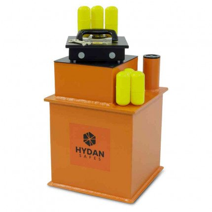 "Hydan Briton Deposit £4000 Rated 12"" Square Door Floor Safe - Door open"