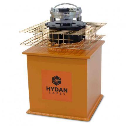 """Hydan Cobalt Size 2 £10,000 Rated 12"""" Round Door Floor Safe with door open"""
