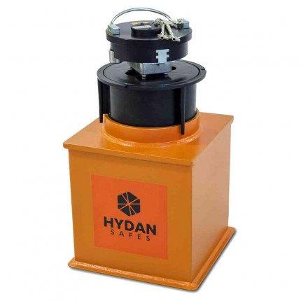 """Hydan Knight Size 1 £6000 Rated 9"""" Round Door Floor Safe - Door open"""