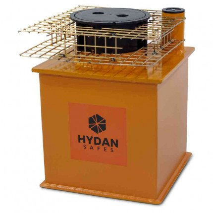 "Hydan Knight Deposit £6000 Rated 12"" Round Door Floor Safe with optional mesh cage"
