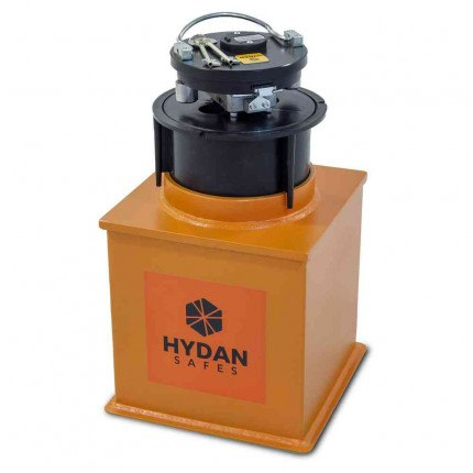 "Hydan Standard Size 2 £4000 Rated 12"" Round Door Floor Safe door open"