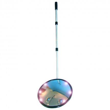 vSecurity Inspection Mirror 35cm Castors LED - Dancop arm extended