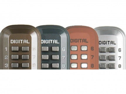 Lockey Digital Spare Door Key Safe - colour choices