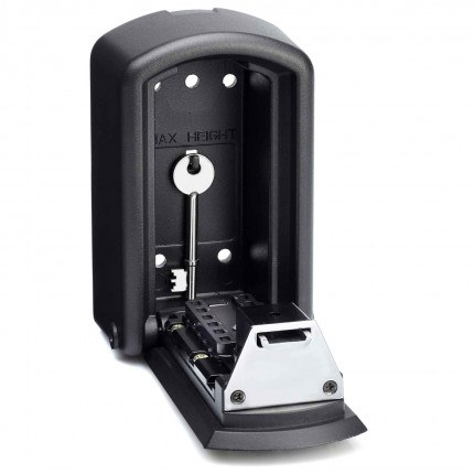 Police Approved - Keyguard Digital XL Mini Key Safe - open with key without cover